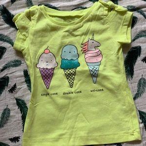 Neon girls unicorn/ice cream t